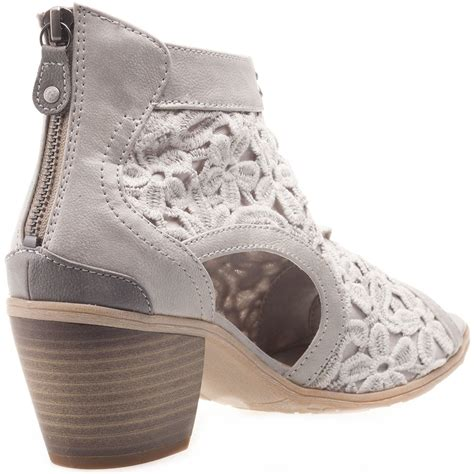 light grey womens dress shoes mustang 1221802 22 womens ankle boots in light grey