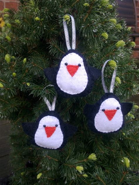 black penguin christmas tree decorations by ashfantastic