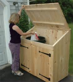Kitchen Cabinet Garbage Can Cedar Outdoor Storage Sheds For Trash Can And Recycling