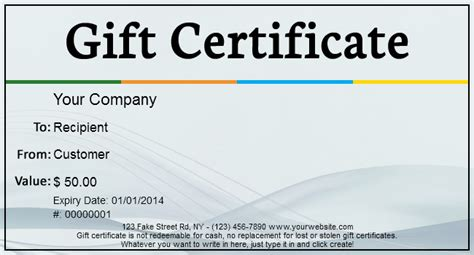 printable gift certificates for my business gift template blog