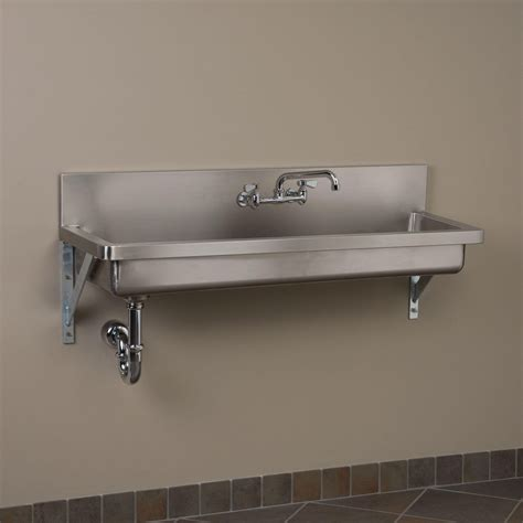 Commercial Stainless Steel Kitchen Sink Stainless Steel Wall Mount Commercial Sink Stainless Steel Kitchen Sinks Kitchen Sinks Kitchen