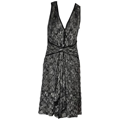 black and white knit black and white missoni knit dress for sale at 1stdibs