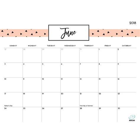 printable monthly calendar 2018 imom printable calendar june 2018 cute larissanaestrada com