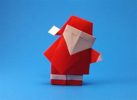 How To Make An Origami Santa Hat - origami and santa claus 12 gilad s origami page