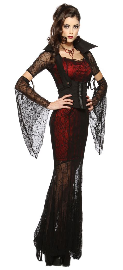 gothic costumes adult sexy gothic halloween costume new sexy womens goth vire witch fancy dress halloween