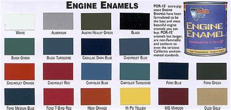 por 15 colors engine paint color chart images