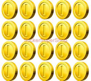 10 20 40 coins super mario decal removable wall sticker scene free shipping ebay