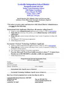 Sample Resume Objectives Paraprofessional by Paraprofessional Resume Getessay Biz