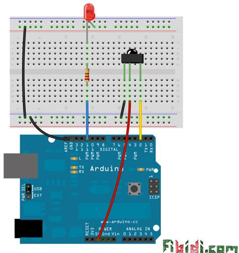 arduino code library how to use the ir library with an attiny using arduino