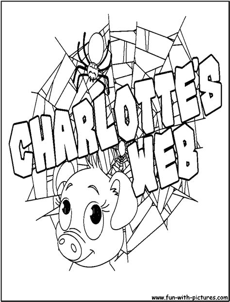 charlottes web coloring pages free printable colouring