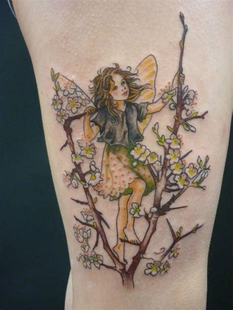 fairy and flower tattoo designs flower tatoos