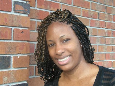 pics of a braided bob style with twisty type braided hair 51 kinky twist braids hairstyles with pictures