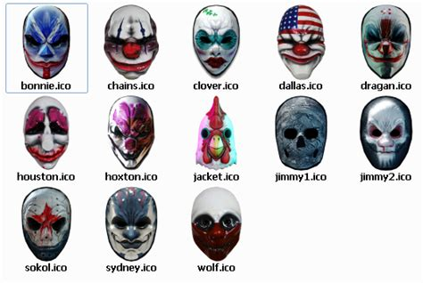 payday 2 bobblehead mask payday 2 desktop icons mods