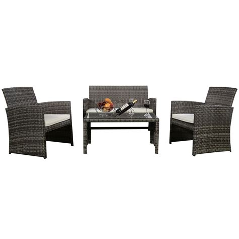 outdoor wicker rattan furniture affordable variety outdoor wicker rattan patio furniture set garden lawn sofa cushioned seat