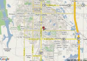 fort collins colorado map map of marriott fort collins fort collins