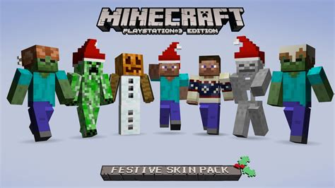 themes ps3 minecraft minecraft festive skin pack op ps3 offici 235 le playstation