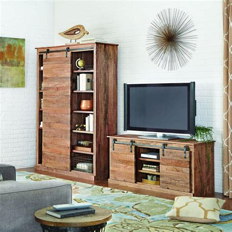 decorators home home decorators collection holden natural storage entertainment center 9528000910 the home depot