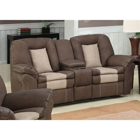 Dual Reclining Sofa With Console Carson Dual Reclining Loveseat With Storage Console Ebay