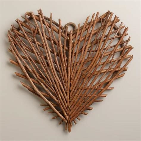 twig decor twig heart wall decor world market