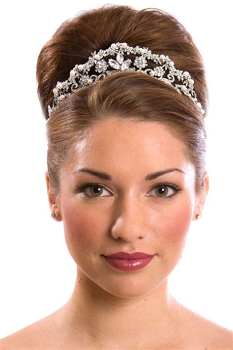 wedding hairstyles with a tiara tiara updo hairstyles hair