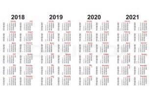 Kalender For 2018 Med Helligdage Kalender 2018 Bis 2021 Jahrelang Stock Vektor Colourbox