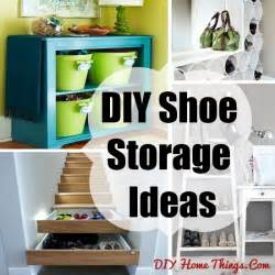 Diy Storage Ideas Diy Shoe Storage Ideas