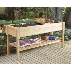 Cedar creek cedar wood raised planter box potting benches at