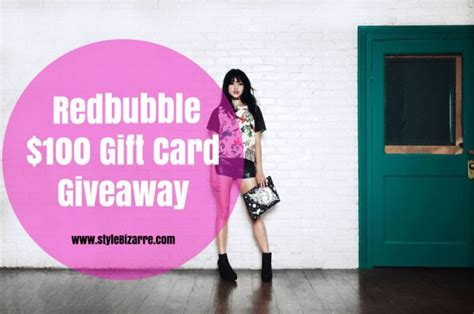Redbubble Gift Card - redbubble 100 gift card giveaway stylebizarre