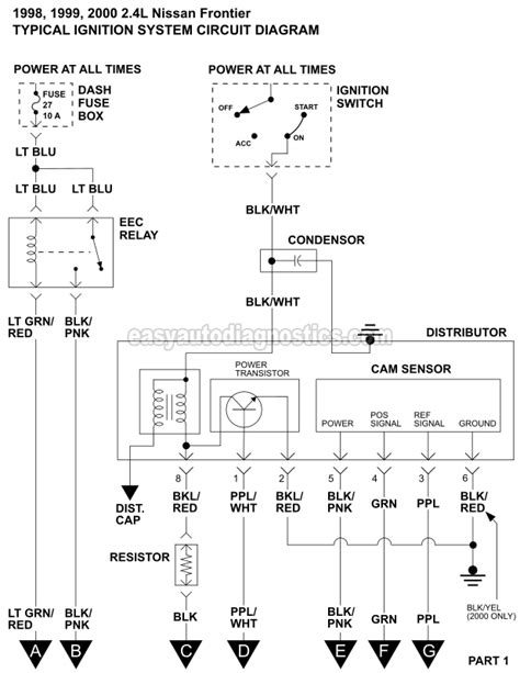 Ignition System Wiring Diagram (1998-2000 2.4L Nissan