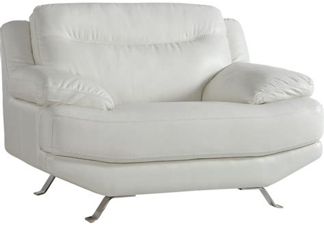 Sofia Vergara Castilla White Leather Chair Chairs White