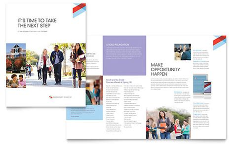 how to layout a booklet in publisher education training brochures flyers word publisher