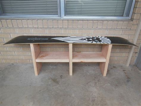 snowboard benches old snowboard made into bench upcycle furniture and
