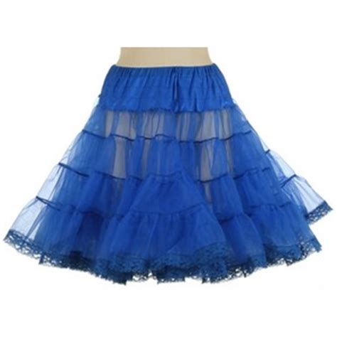 electric blue netted petticoat skirt vintage clothing