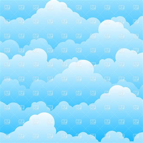 background clipart seamless cloudy sky background vector image vector