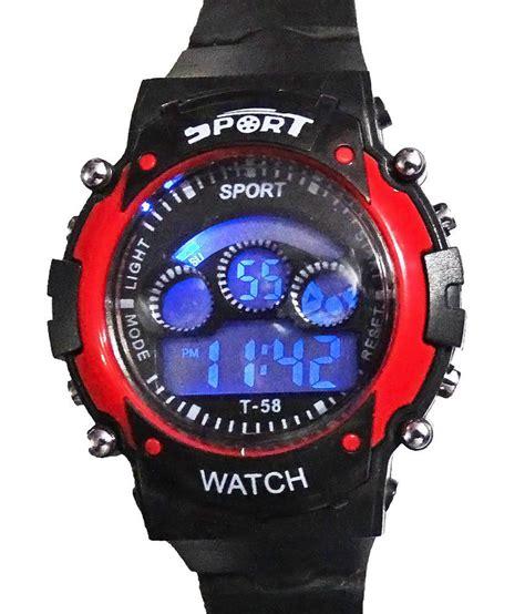 hala black rubber digital sports for price in