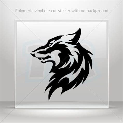 Wolf Racing Aufkleber by Decal Sticker Wolf Decoration Waterproof Racing