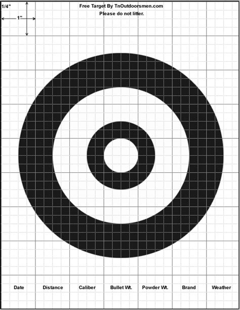 printable free rifle targets printable shooting target new calendar template site