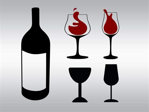wine glass svg wine glass and bottle svg clipart cut files silhouette