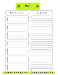 menu planner template menu planning new calendar template site