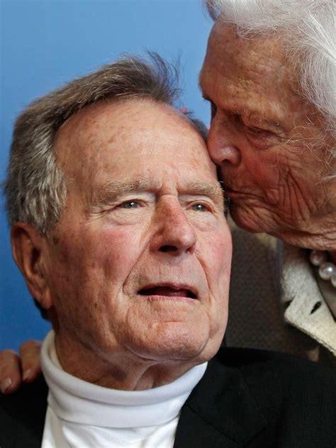 george w bush president 41 family optimistic after bush 41 falls breaks neck bone