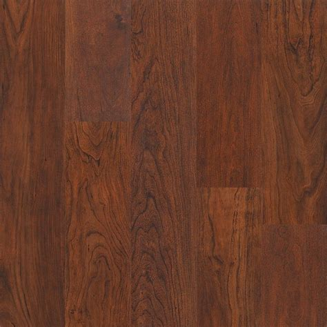 shop style selections spiced cherry handscraped laminate wood planks at lowes com