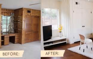 How To Update Wood Paneling Without Painting by Before Amp After Sarah S Real World Makeover Design Sponge