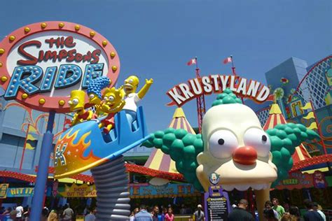 theme park on the simpsons krusty land we heart it