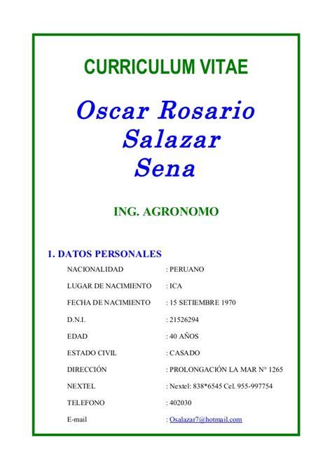 Modelo Curriculum Rosario Curriculum Vitae