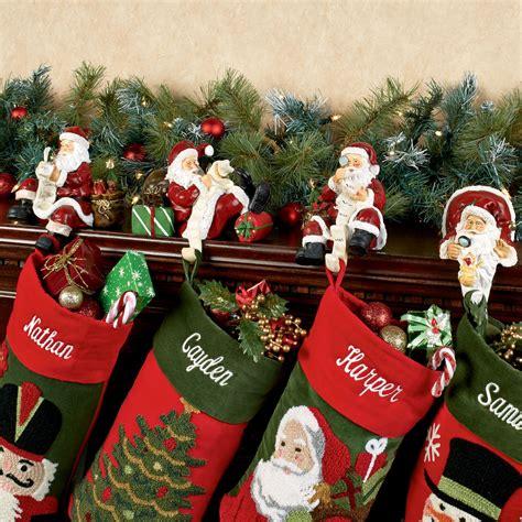 checking it twice santa stocking holder set