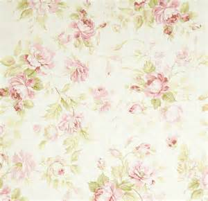 shabby chic rose sprays fabric
