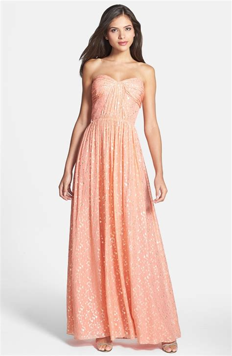light peach dress peach and light blue wedding the merry bride