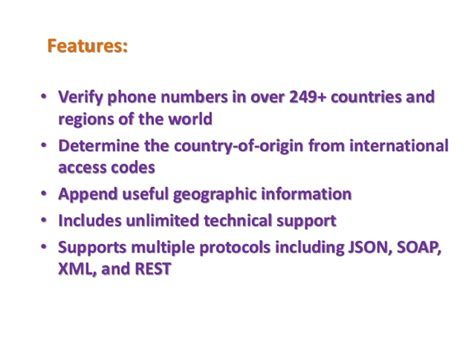 Global Phone Lookup Global Phone Verification Data