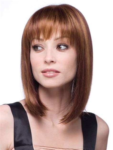 medium haircuts with bangs for round faces medium length curly trendy medium length hairstyles for round faces pictures