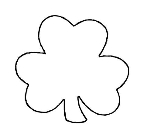 printable shamrock images shamrock outline printable clipart best